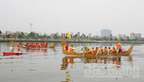 HCGT- Đường thủy nội địa phục vụ tổ chức Giải đua thuyền thành phố Bắc Giang lần thứ III năm 2018