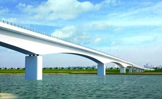 Hạn chế GT - Thi công xây dựng cầu La Tiến (km48+00 s.Luộc)