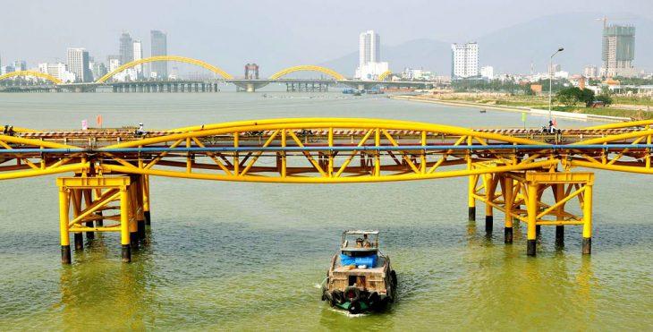 Hạn chế GT - Cải tạo tuyến ống xăng dầu K131-H102 vượt sông Hàn, khu vực km 6+700